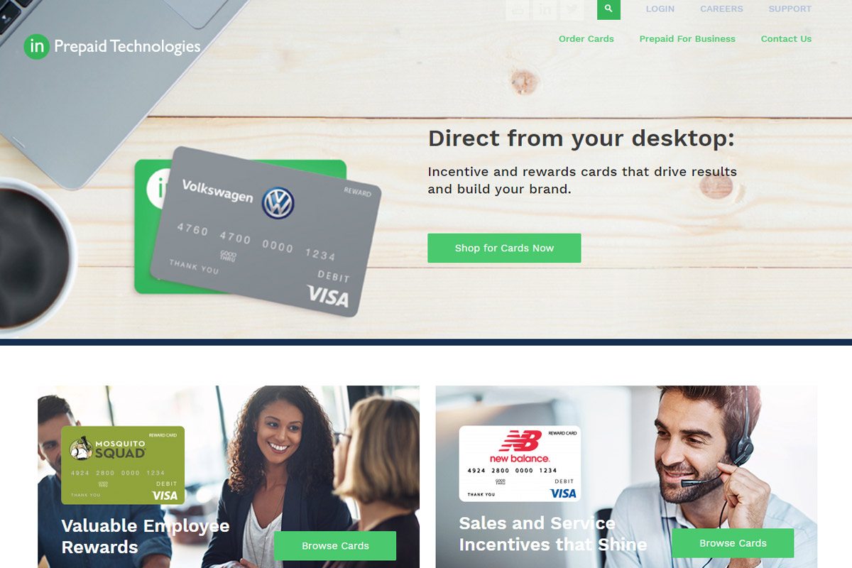 Prepaid Technologies Website Image